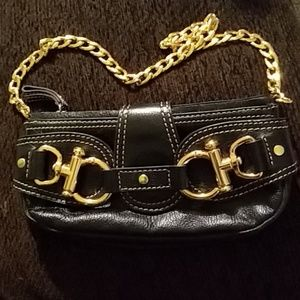 Women's black leather small Hype Purse